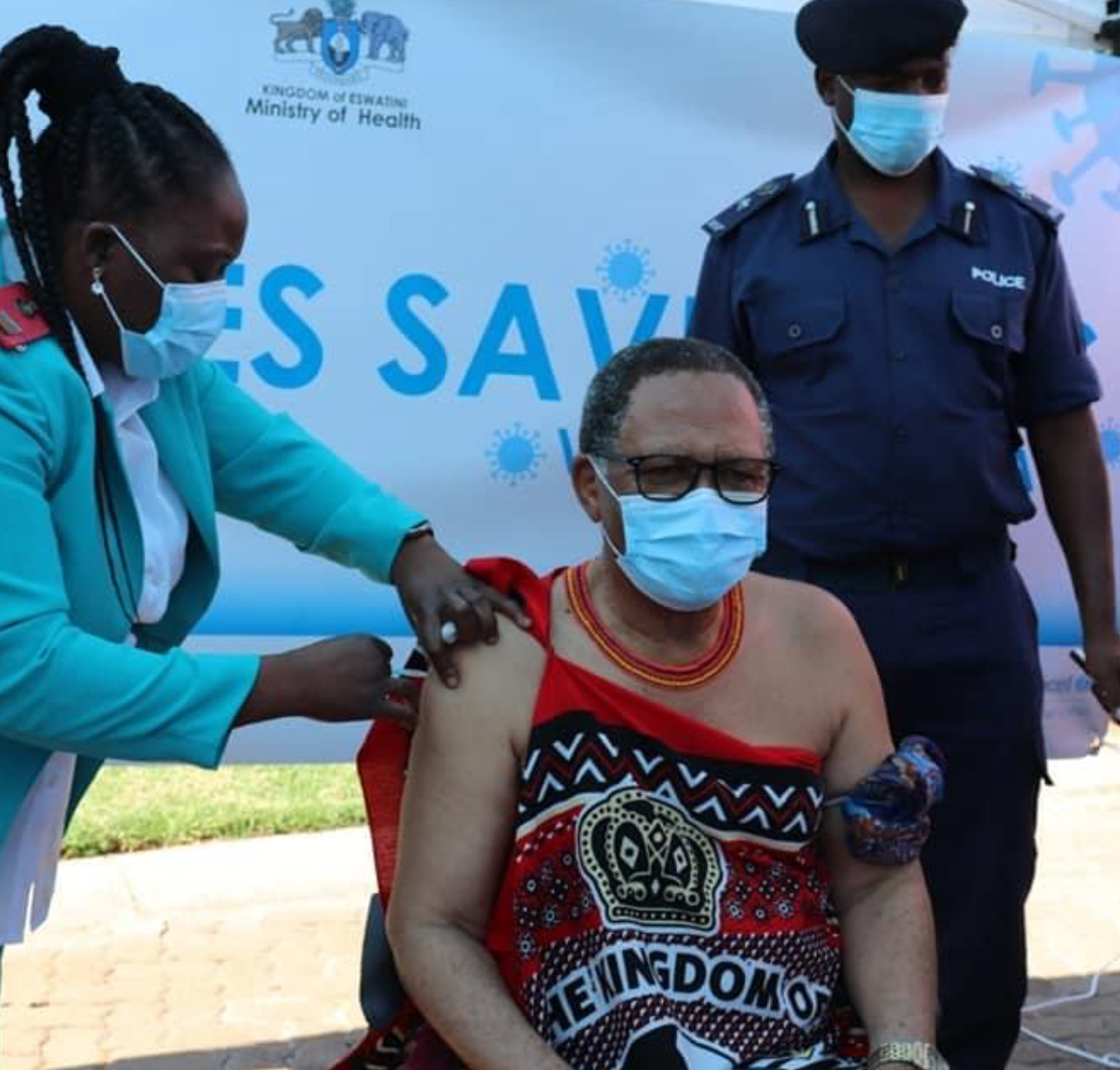 Acting Prime Minister officially launch vaccination programme, urges Swazis to accept controversial AstraZeneca vaccines