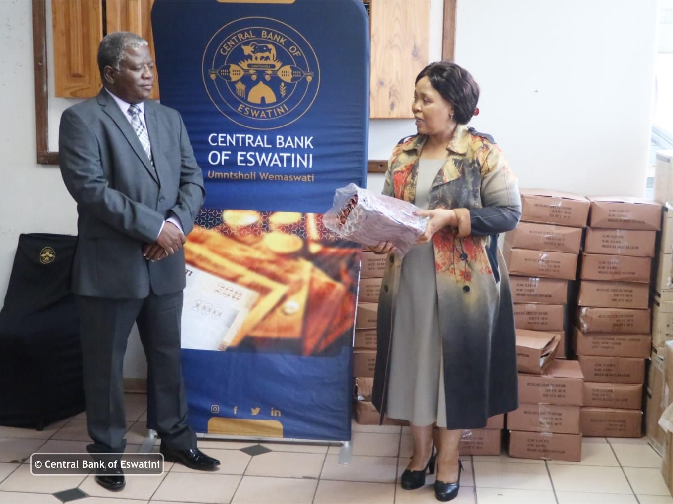 Central Bank donates COVID-19 Personal Protective Clothing worth E860,000.00