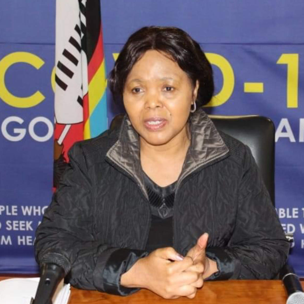 Health Minister Lizzie Nkosi pleads with Swazis to ignore international media reports and accept AstraZeneca vaccines