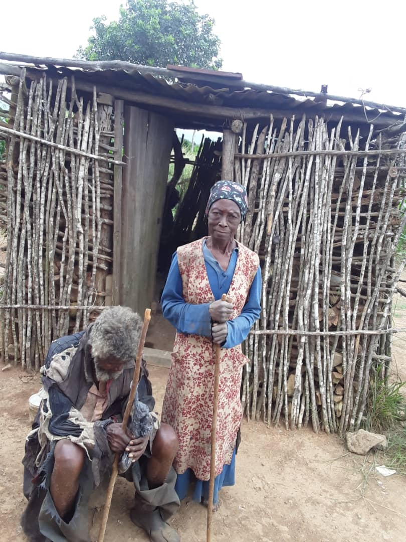 Sickly elderly couple faces death, appeals to King Mswati for food.