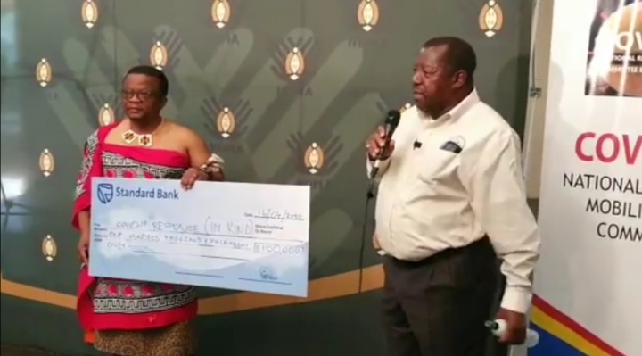 Eswatini Energy Regulatory Authority donates E100,000.00 sanitizes to fight COVID-19